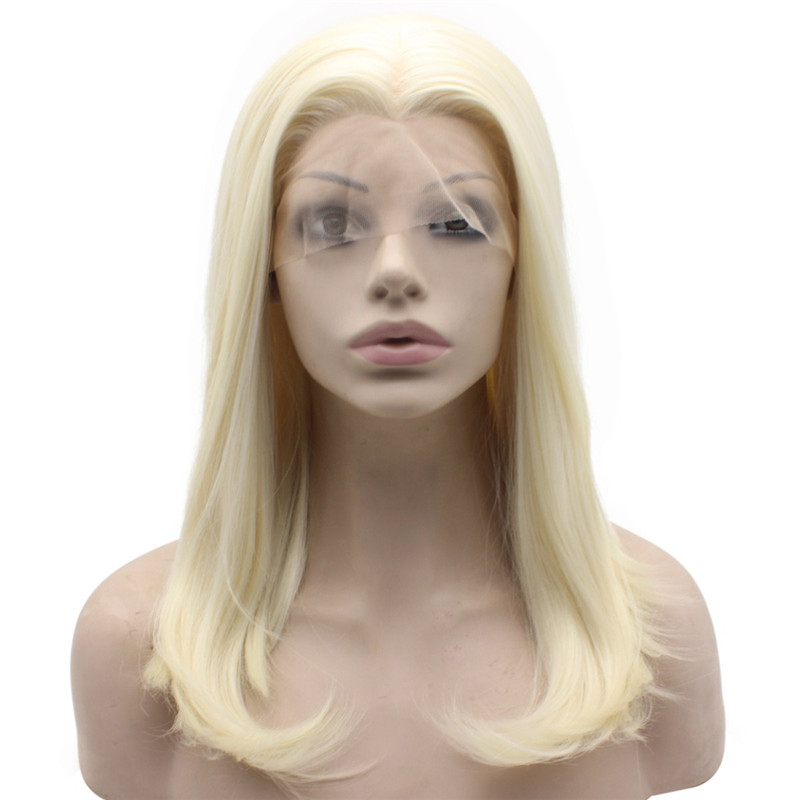 light blonde wig synthetic