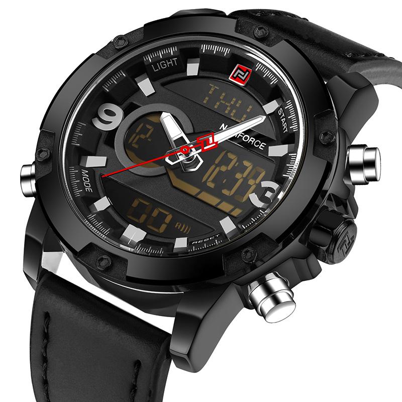 NAVIFORCE Черный mne watch naviforce 2015 naviforce relogio watches n 9022
