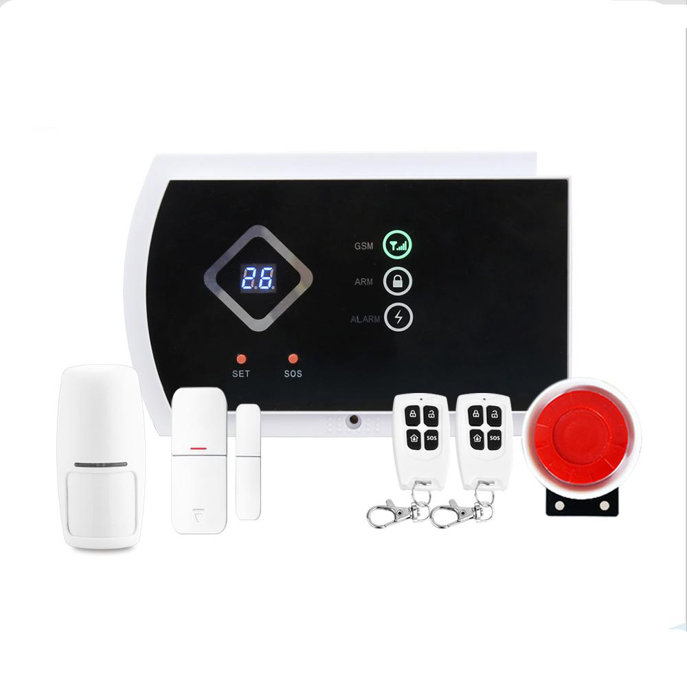 DYGSM Alarm System yobangsecurity home wifi wireless gsm security alarm system outdoor solar pir motion sensor wireless siren smoke detector