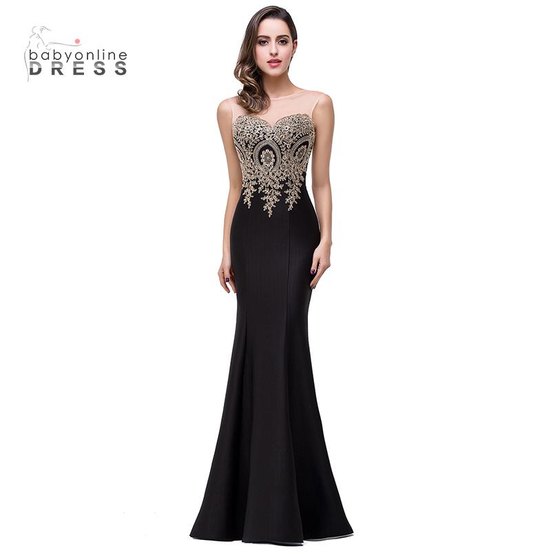Платье вечернее для выпускного вечера Babyonline Mermaid для женщин с длинными выпускными платьями малыш платье черный США 2 Великобритания 6 ЕС 32 фото