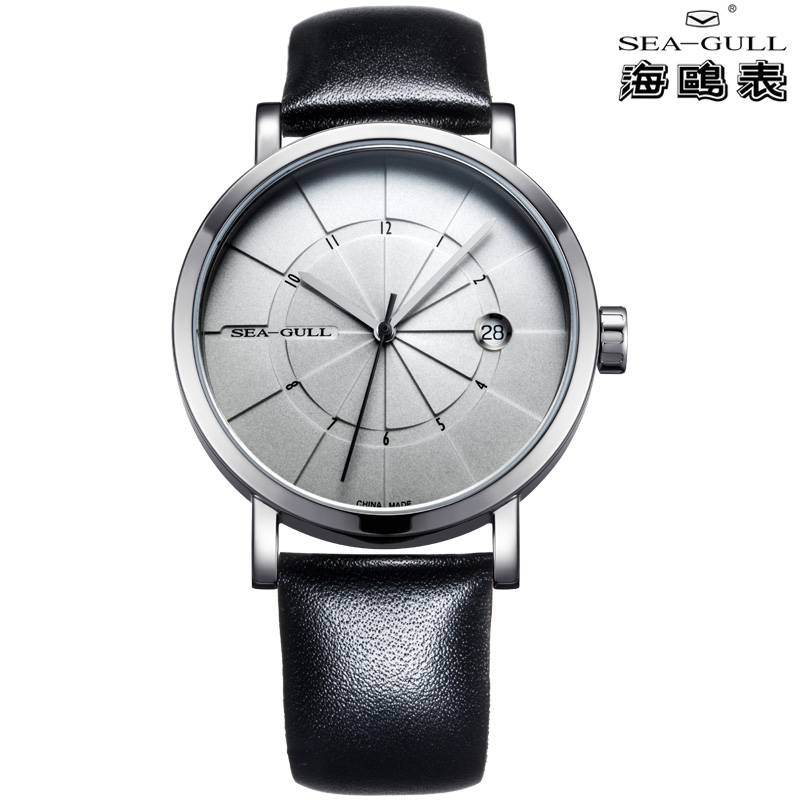 SEA-GULL Современный минимализм sea gull special limited commemorative edition 60th anniversary of china first automatic dress watch 3 hands with date 816 661