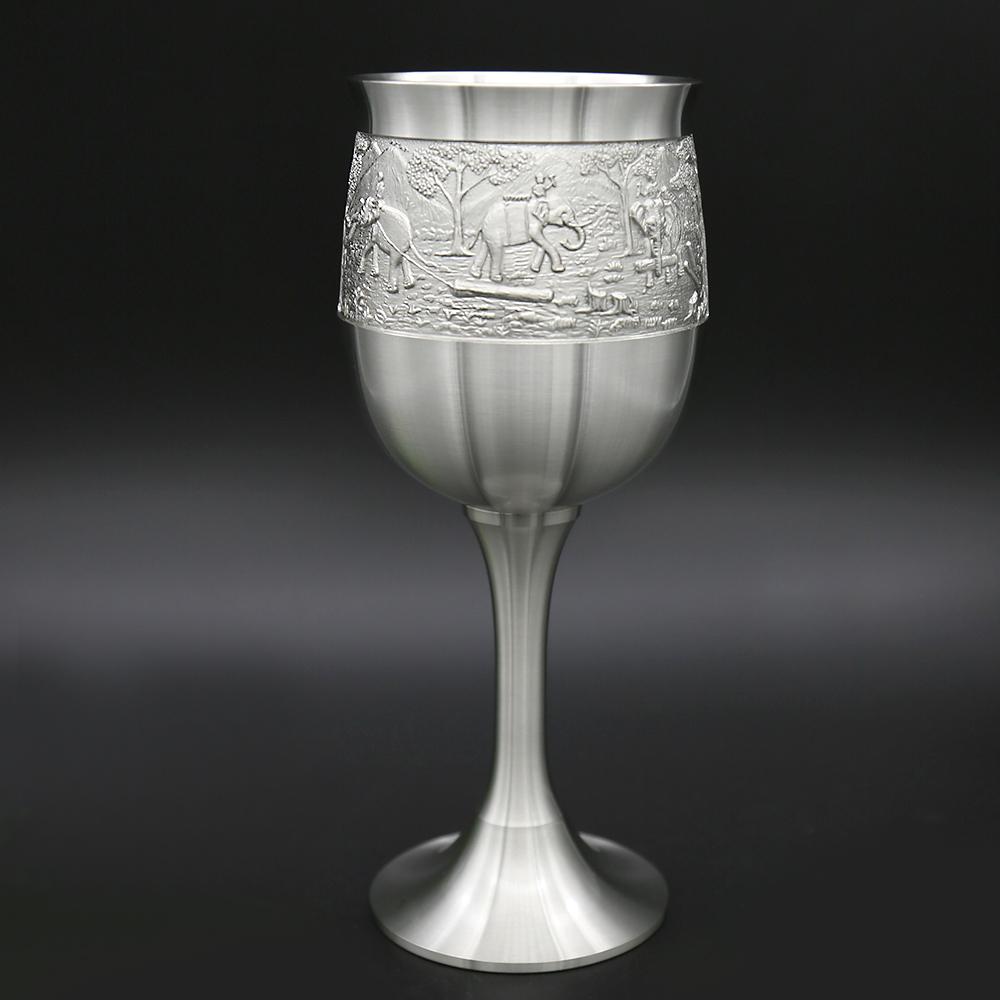 Ликерное стекло посуда для напитков виски виски скотч спиртное питьевая чашка для напитков Oriental Pewter Thailand Юго-Восточная Азия фото