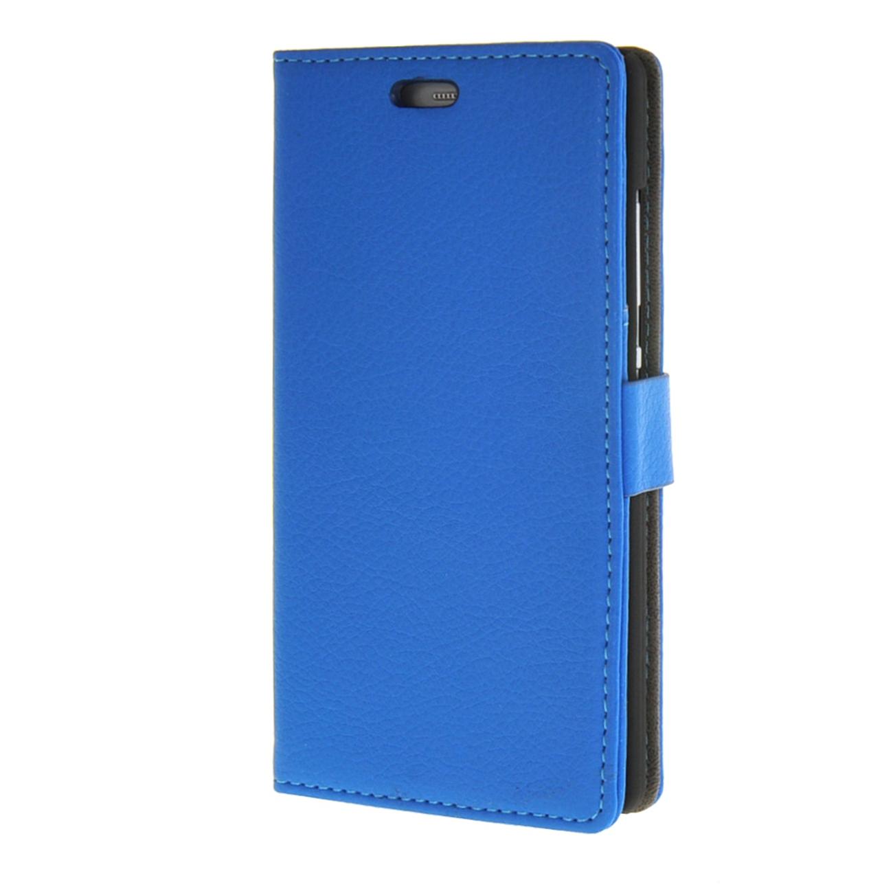 MOONCASE mooncase litch skin leather card slot wallet bracket back чехол для huawei honor 4c blue