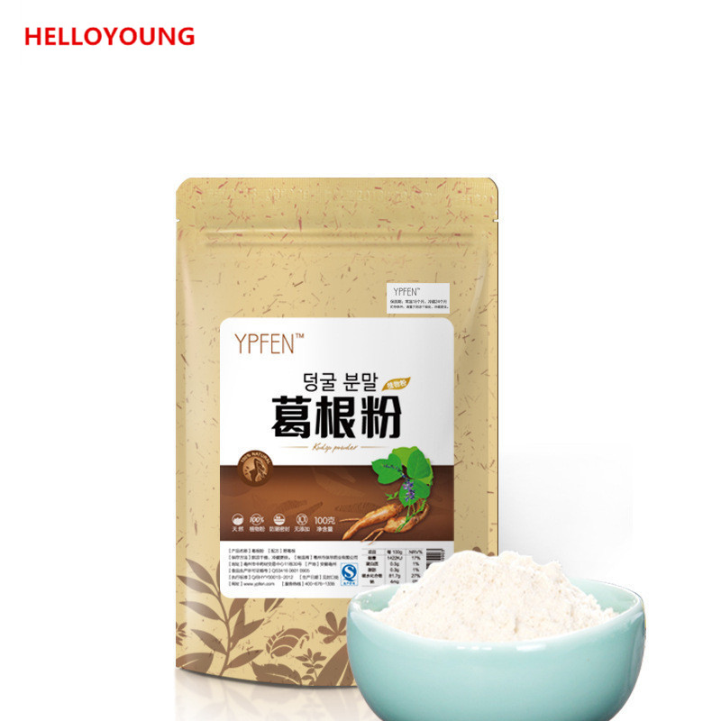 HelloYoung c ts021 new 100g top grade purely natural organic pueraria mirifica powder puerarin lobed kudzuvine root extract herbal tea