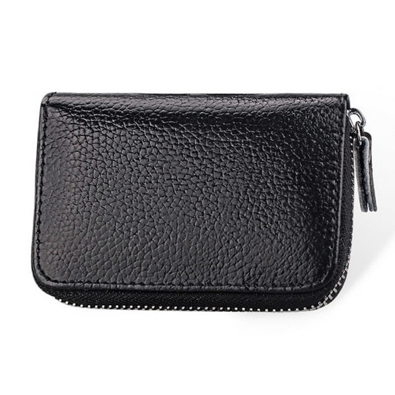 CANIS Черный high quality women pu leather small mini wallet credit card id holder with key ring ladies change coin purse clutch bags handbag