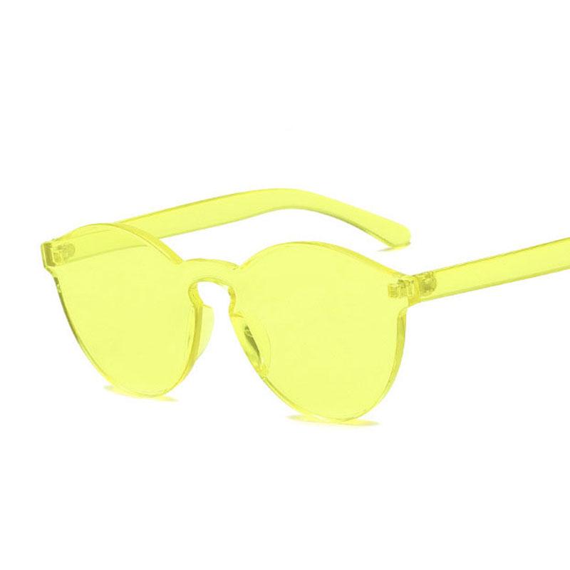 LIKEU S NO9 Желтый Круглый солнцезащитные очки для девочек colorexclusive sungl 001