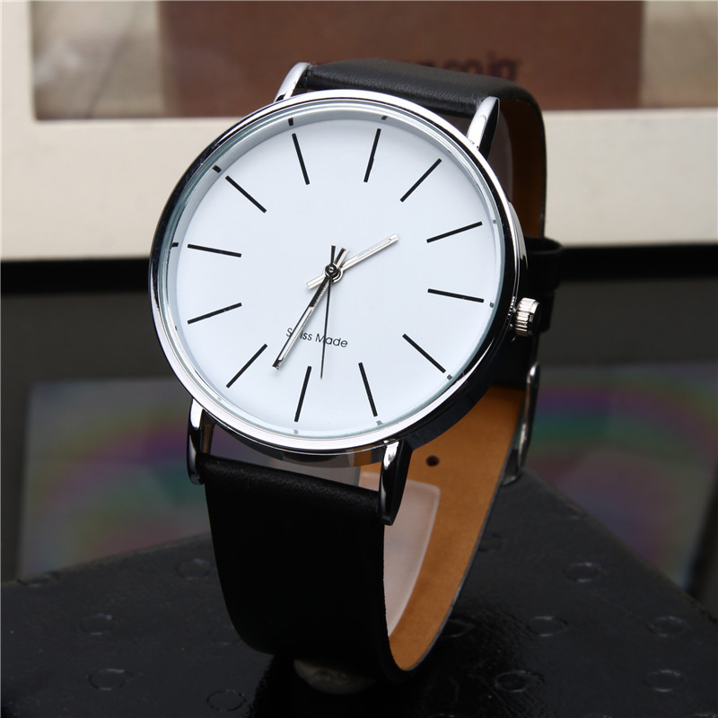 TIMARCO Белая тарелка кожаная ремень мужские часы mini focus wrist watch men top brand luxury famous male clock quartz watch wristwatch quartz watch relogio masculino mf0087g 01