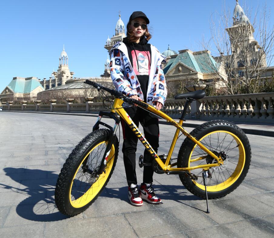 KUBEEN Золотистый27speed Железо usd 6 fat wide fat fork 26 air suspension bicycle front fork for mtb 26 4 0 26 4 5 26 4 8 snow bike fat bike beach bike ebike