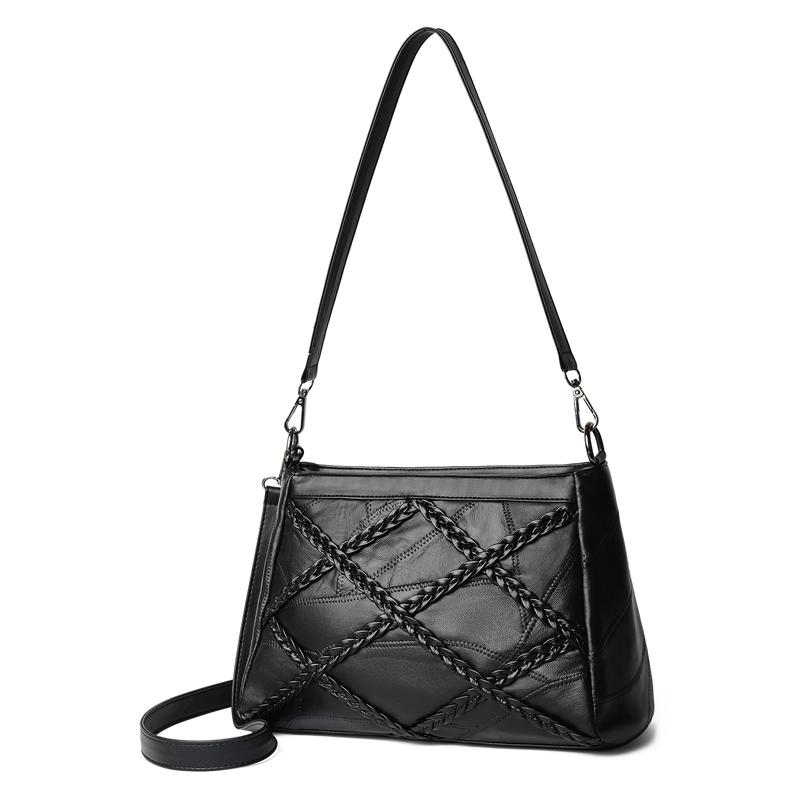 wusetu черный B S marino женщина lingge цепи плечо сумка пакет милая леди элегантный черный