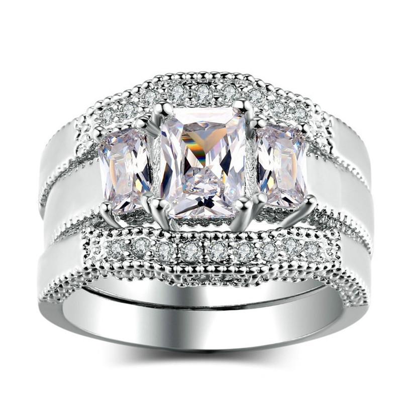SHDEDE 7 у7 обручальные кольца для женщин свадебные 2015 оптовая 18k позолоченный кубического циркония ааа любви сердце кольца обручальные кольца