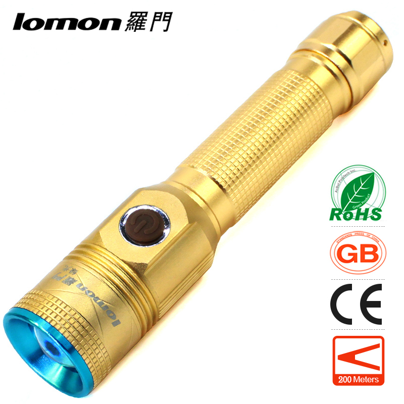 lomon золотистый Green Light brinyte convex lens xm l2 u4 led tactical flashlight torch zoomable outdoor hunting flash light with red green white 3 bulbs