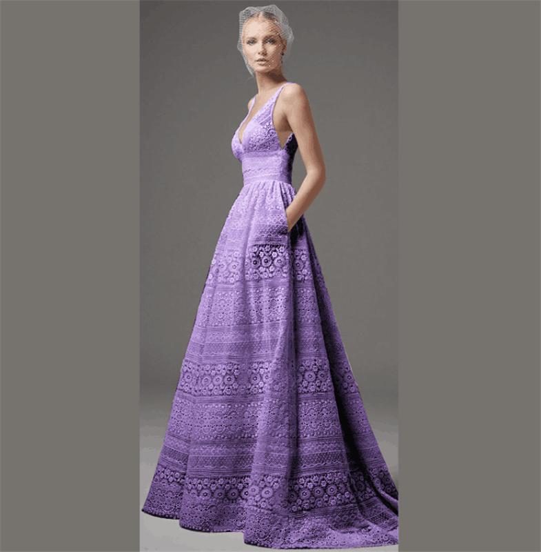 Nulibenna фиолетовый XXXL женское платье j31