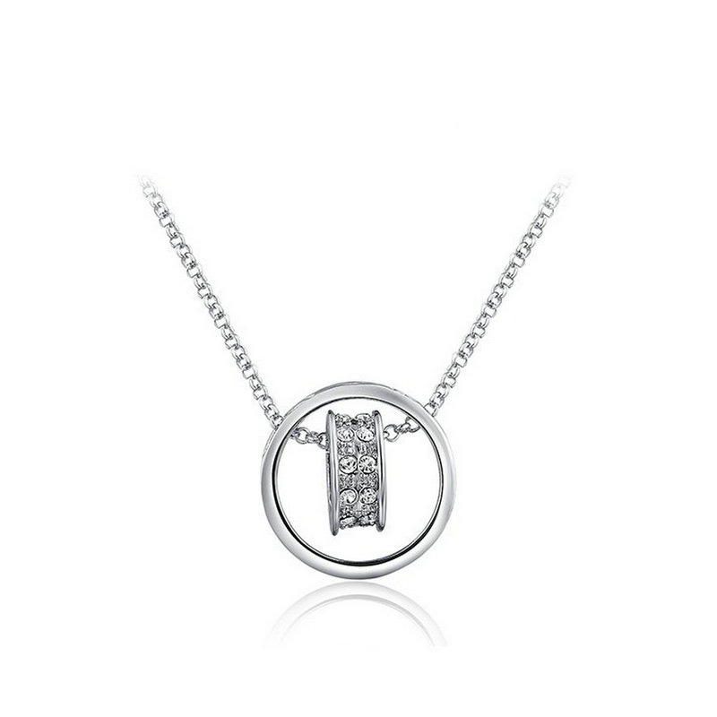 yoursfs Серебряный тихиро море findwind встретить два сердца ожерелье s925 циркон серебряный серебряный sx249