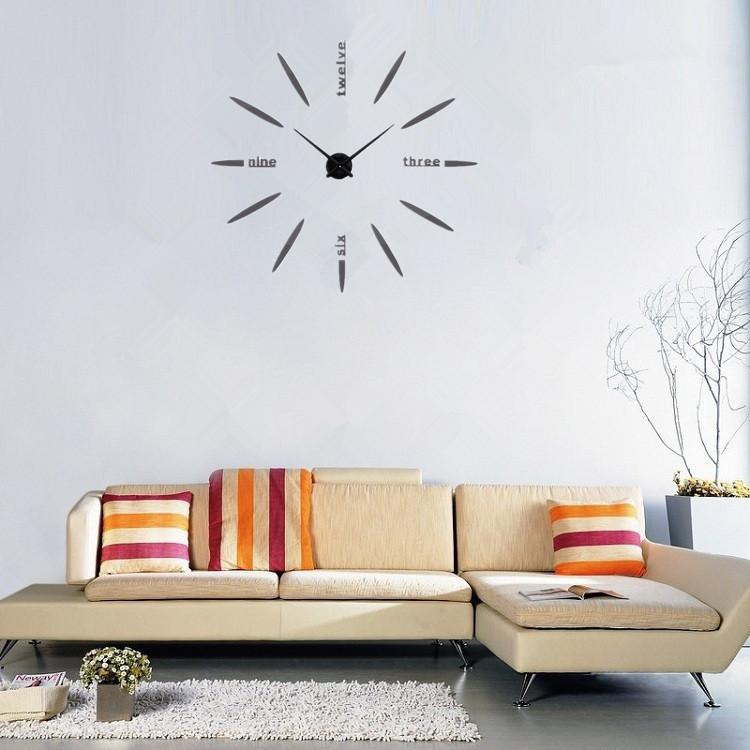 Часы настенные часы настенные часы электронные электронные настенные декоративны suwumu Серый цвет фото