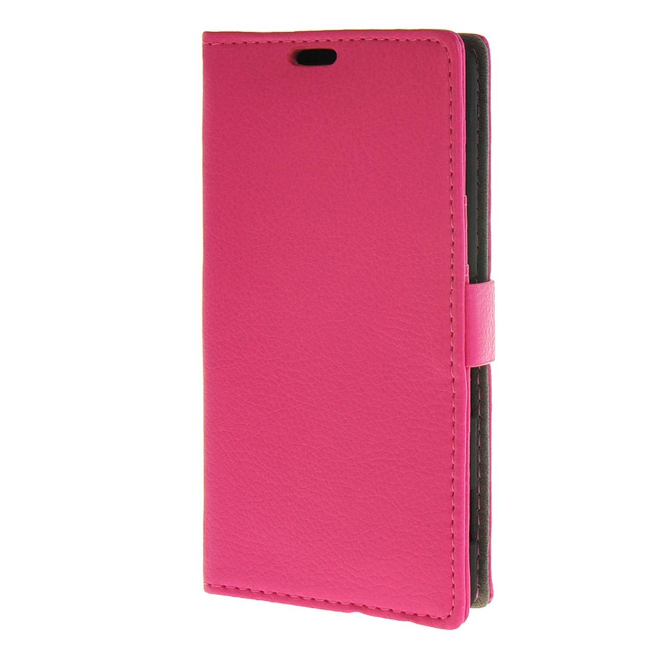 MOONCASE mooncase чехол для sony xperia m4 aqua wallet card slot with kickstand flip leather back hot pink