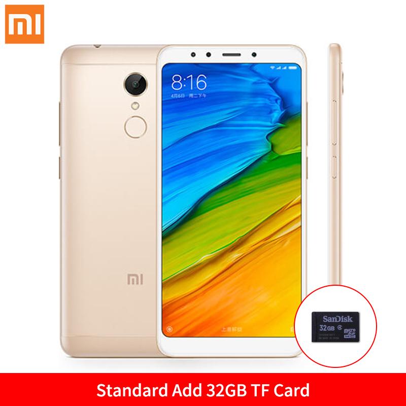 Mi Стандартное золото Добавить карту 32GB TF Стандарт ЕС глобальная версия xiaomi redmi 5 3gb 32gb смартфон 18 9 полный экран 5 7 hd дисплей snapdragon 450 octa core 12mp камера miui 9