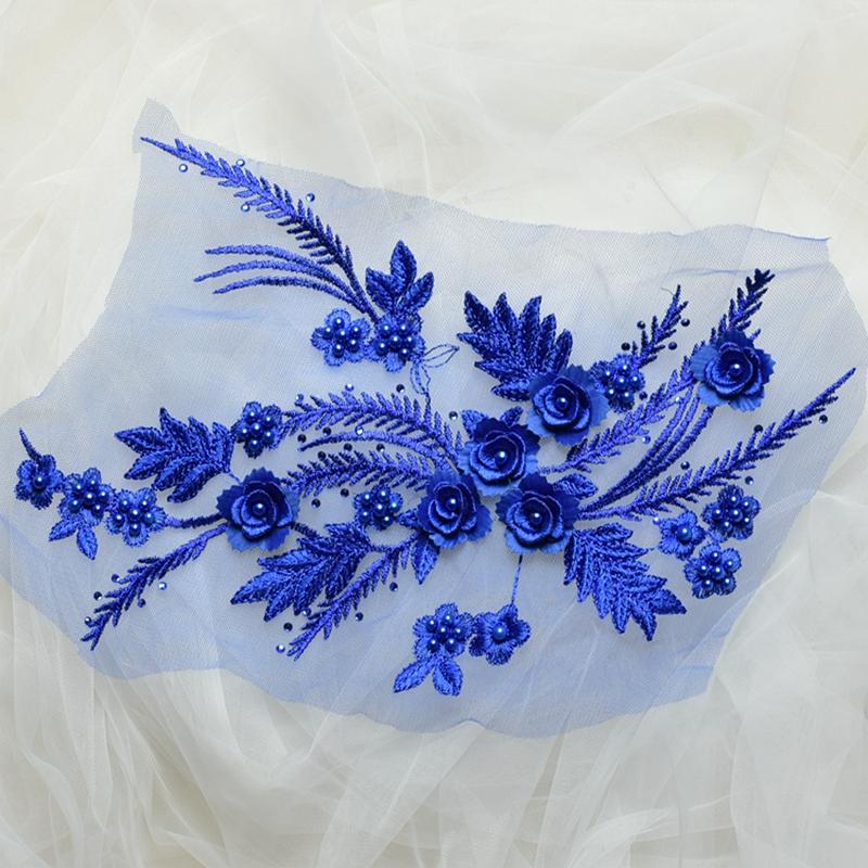 Zbroh Blue обрезка буквенных патчей многоцветная вышивка кружева аппликация diy аксессуар