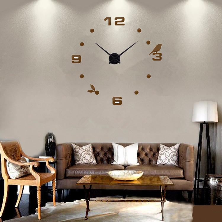 Часы настенные часы настенные часы электронные электронные настенные декоративны suwumu Коричневый цвет фото