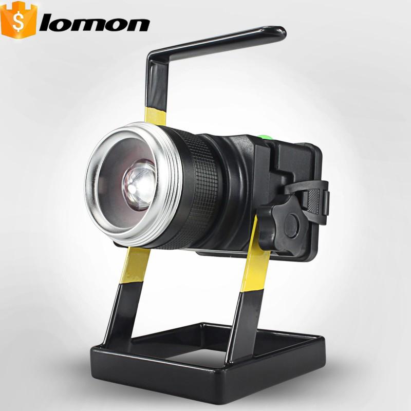 lomon Черный 500m 20w 2hours rechargeable led portable spotlight ac110 240v led outdoor emergency integrated floodlight