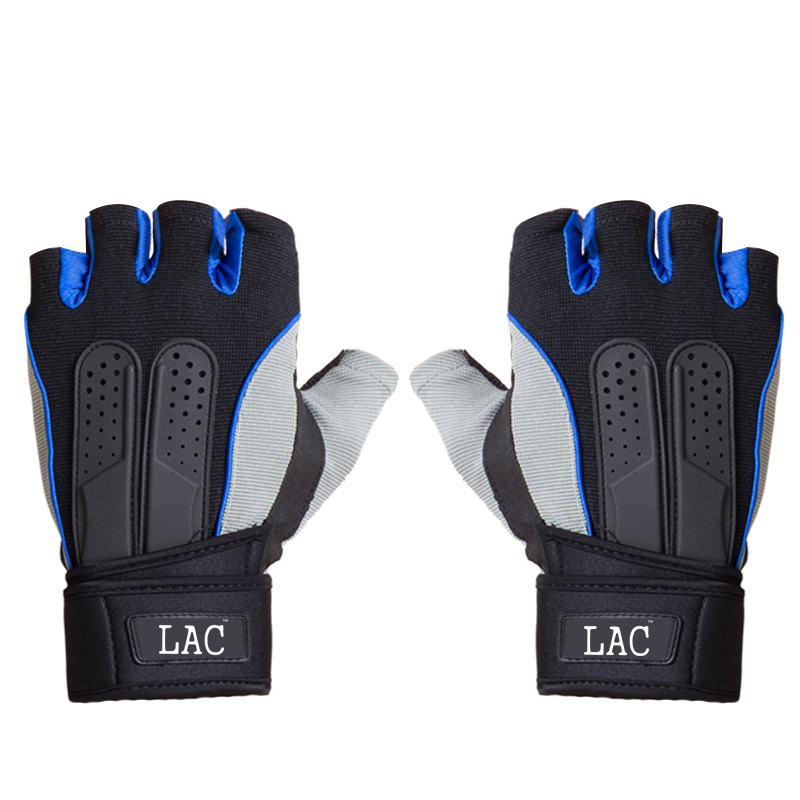 LAC Фитнес перчатки синий L дефолт цена