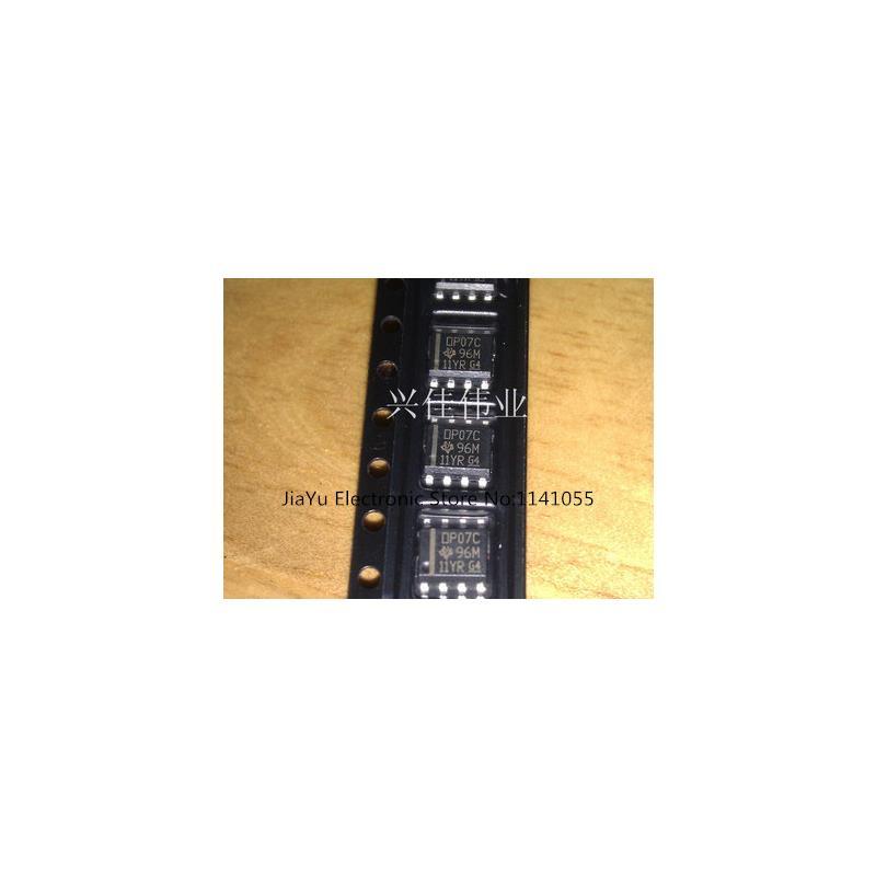 IC 50pcs op07cdr sop8 op07c sop op07 smd new and original ic free shipping