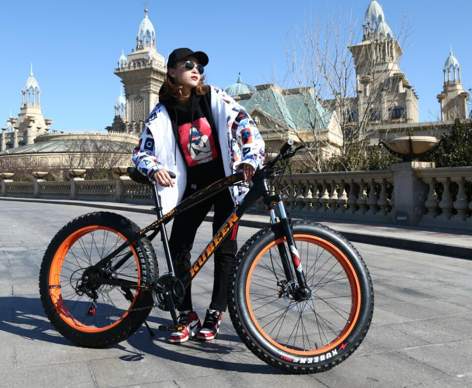 KUBEEN Чёрный цвет21speed Железо usd 6 fat wide fat fork 26 air suspension bicycle front fork for mtb 26 4 0 26 4 5 26 4 8 snow bike fat bike beach bike ebike