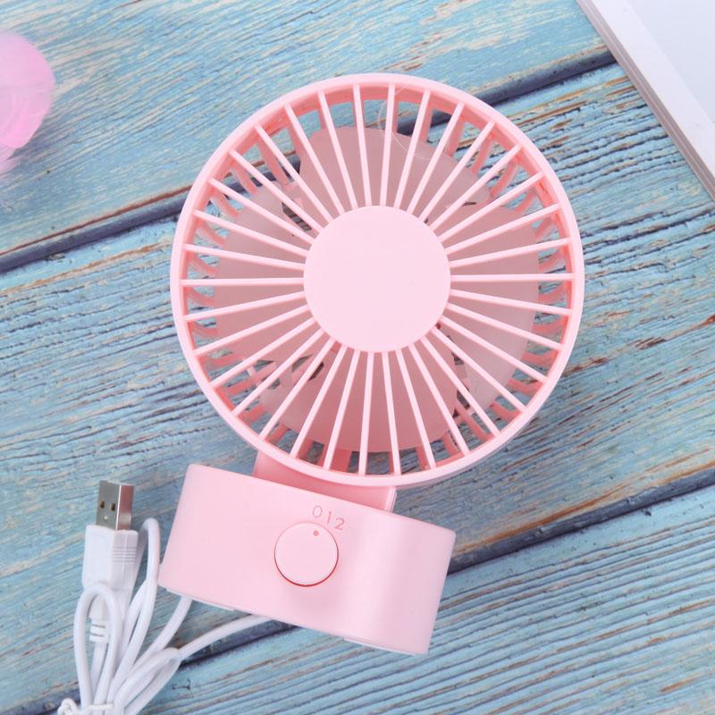 TOMNEW розовый Настольный USB-вентилятор Office Mini Fan Silent 2 Speed Desktop Fan с двухсторонним вентилятором