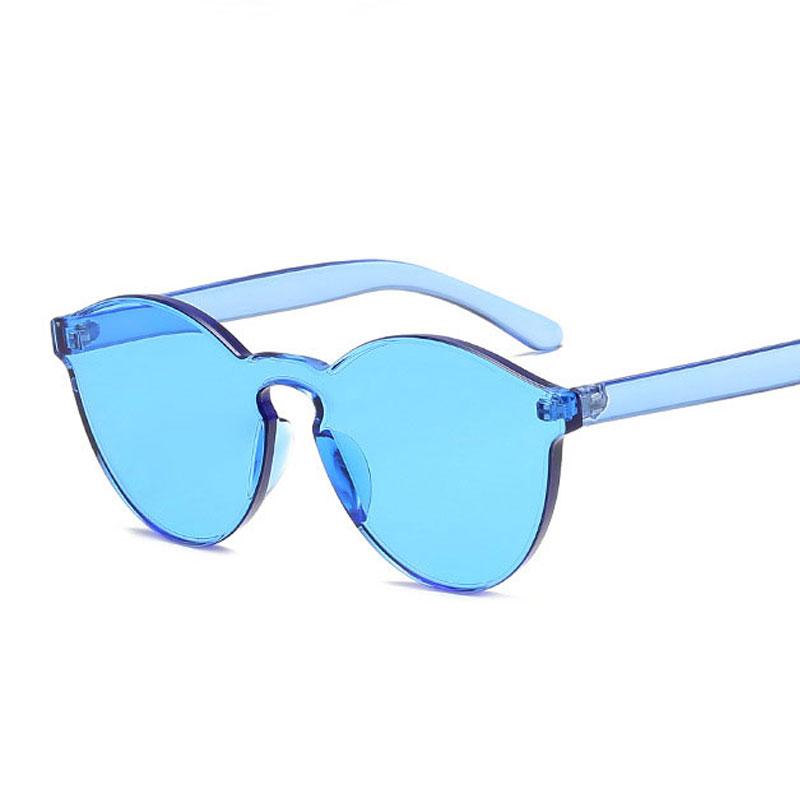 LIKEU S NO5 Синий Круглый солнцезащитные очки для девочек colorexclusive sungl 001