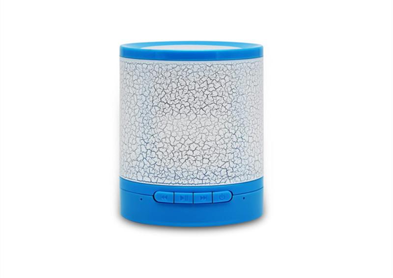 zhileyu синий wireless bluetooth speaker hand spinner with colorful led light
