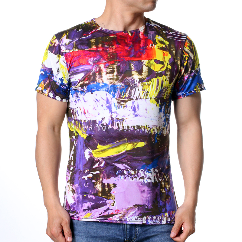 Clothing Loves M модные мужские o образным вырезом кабины print pullover t shirts