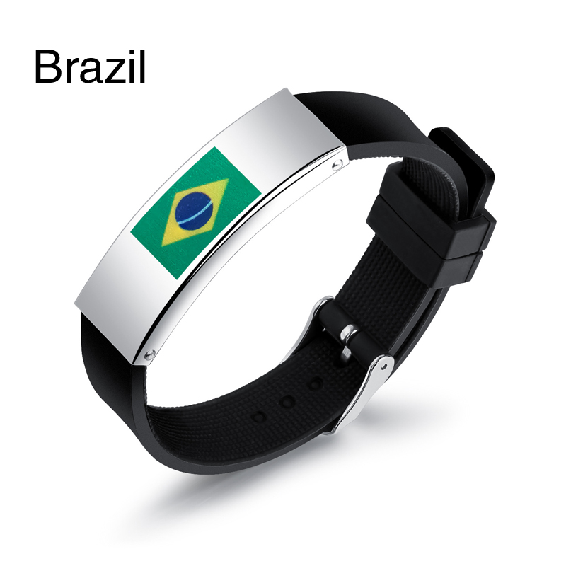 Colorful panda Бразилия u7 широкий браслет часов реального позолоченные моды мужчин украшения оптовой новой модной уникальный 1 5 см 20 см звено цепи браслеты