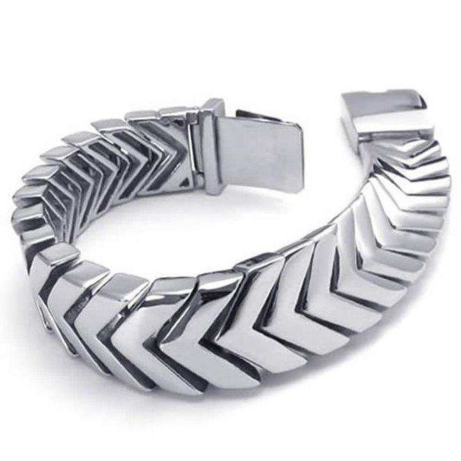 Hpolw u7 широкий браслет часов реального позолоченные моды мужчин украшения оптовой новой модной уникальный 1 5 см 20 см звено цепи браслеты