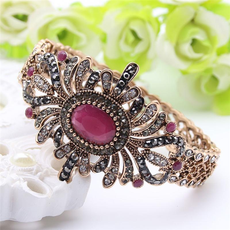 SUNSPICE MS Red дизайн панков турецкий браслеты для глаз для мужчин женщины новая мода браслет женский сова кожаный браслет камень