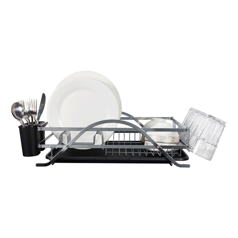 micoe Н-WDT1001 kitchen dish rack 2 tier black dish drainer drying rack washing organizer large capacity holder