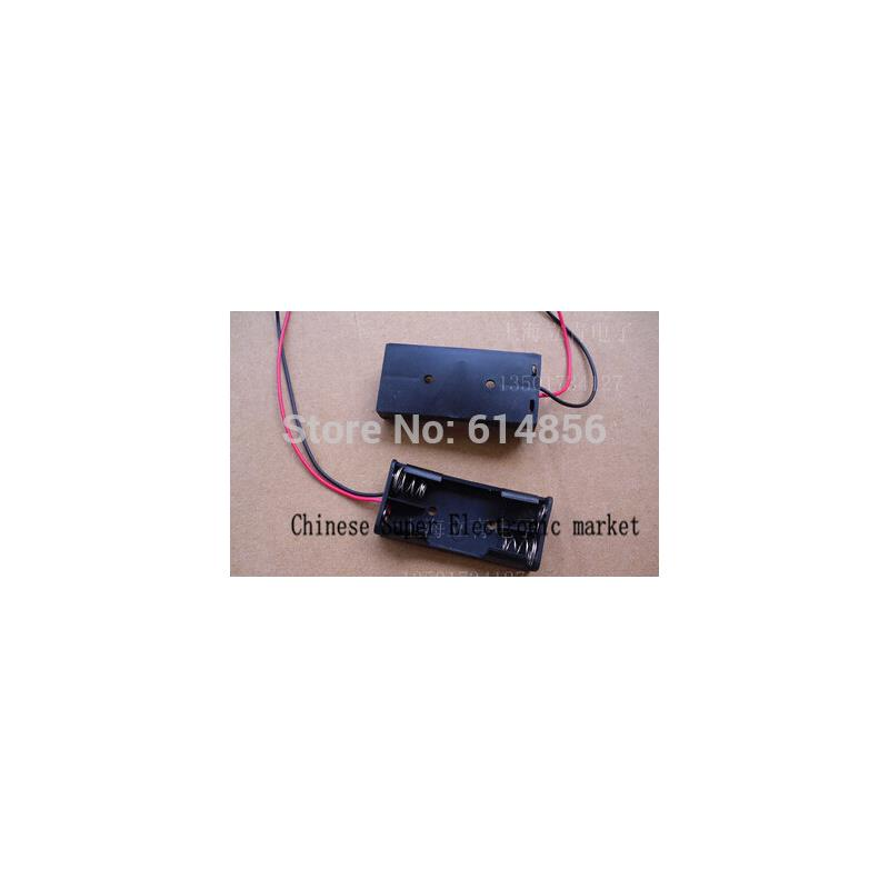 IC 6v 4 x aa battery holder case box with leads
