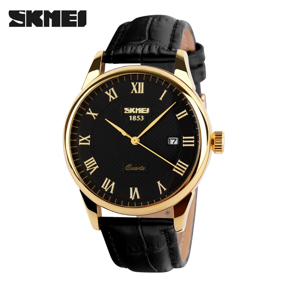 SKMEI ЧерныйЗолотой часы skmei мужские 1155