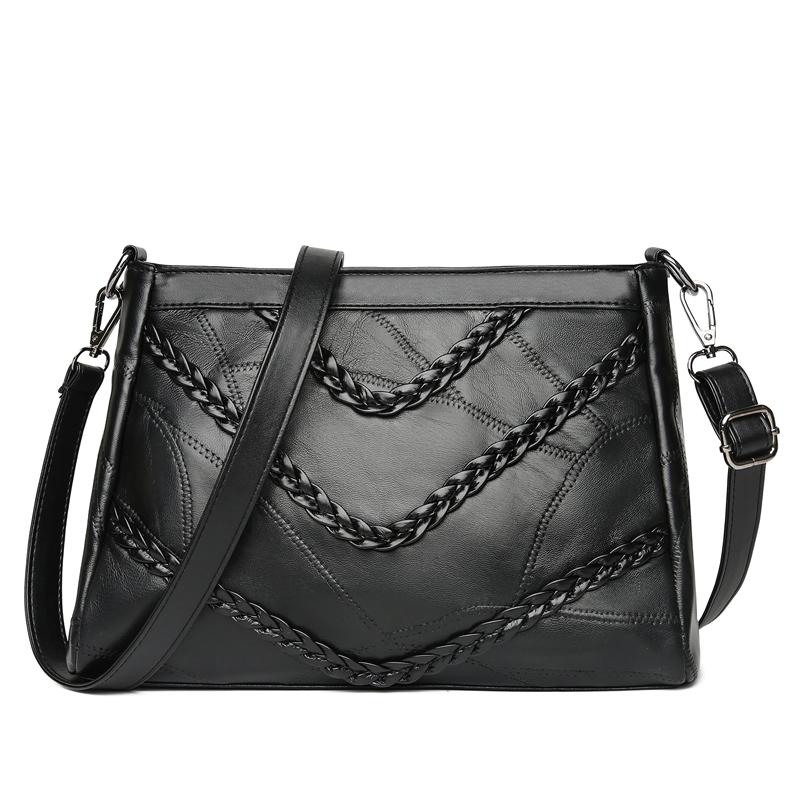 wusetu Черный A S marino женщина lingge цепи плечо сумка пакет милая леди элегантный черный