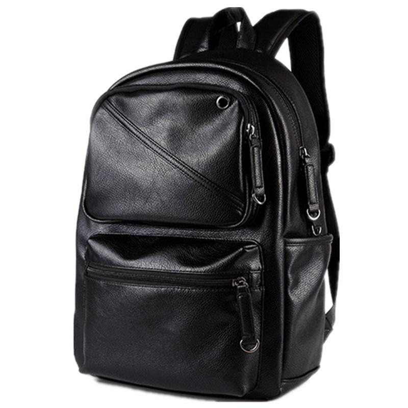 ETONWEAG черный новые мужские кожаные рюкзаки мягкие рюкзаки бизнес daypack рюкзак сумки