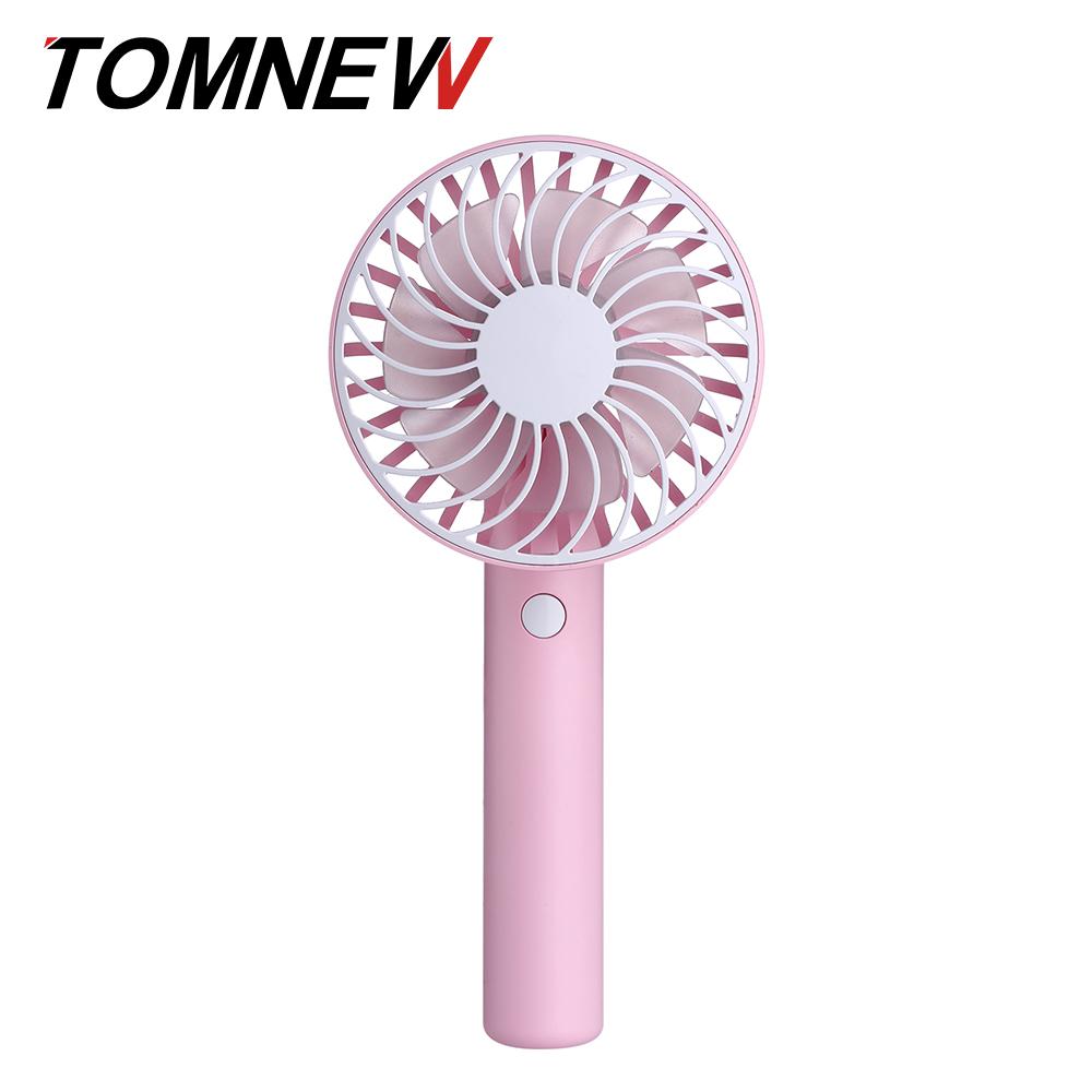 Handy вращающийся вентилятор Mini USB аккумуляторная 1200mAh портативный портативный TOMNEW розовый фото