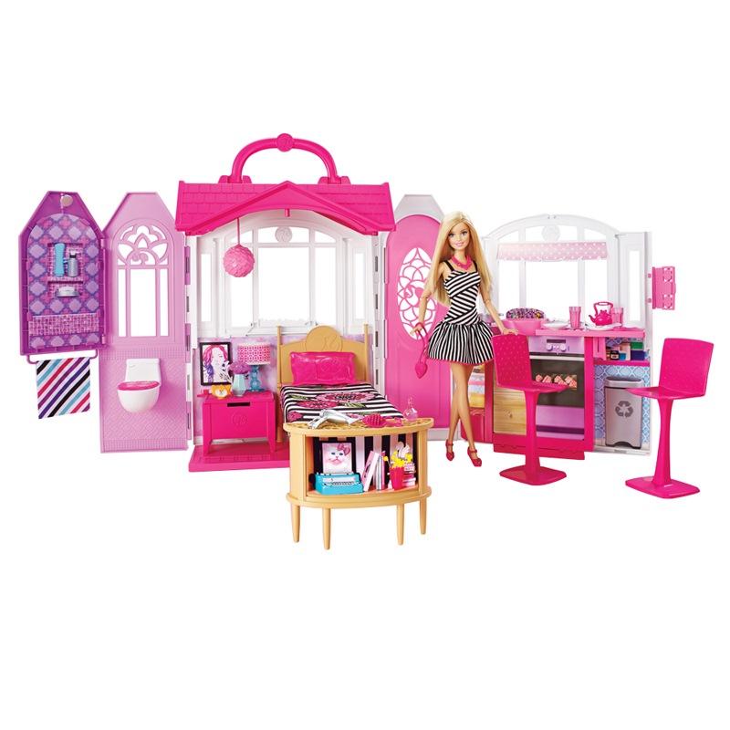 JD Коллекция Блестящие дома отдыха дефолт barbie набор сестра барби с питомцем barbie dmb26
