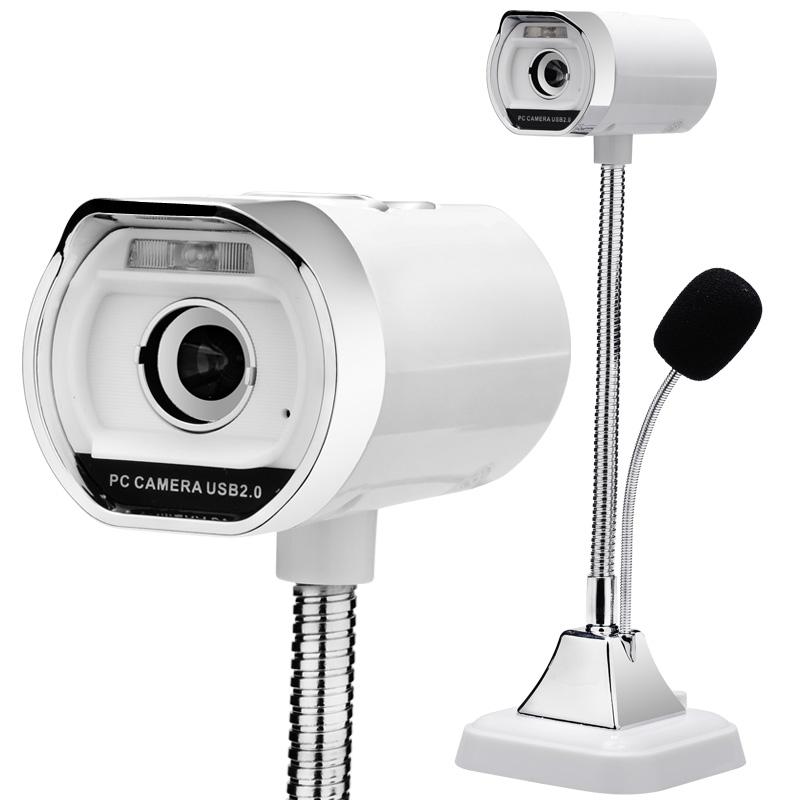 JD Коллекция Белый ashu v80 hd камера с микрофоном для настольных компьютеров и ноутбуков
