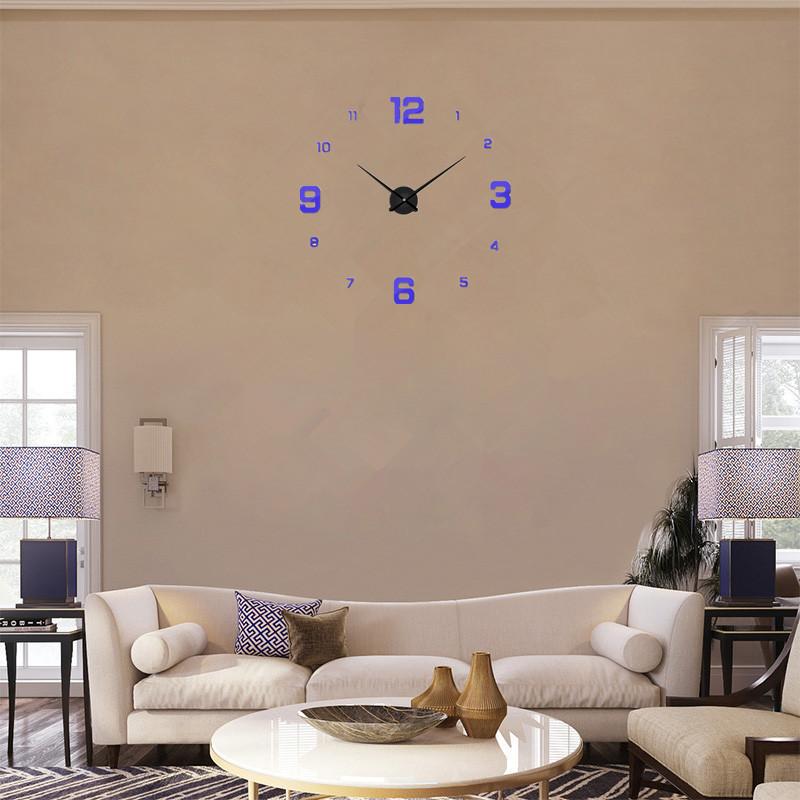 Часы настенные часы настенные часы настенные часы настенные декорации для гостин suwumu Синий цвет фото
