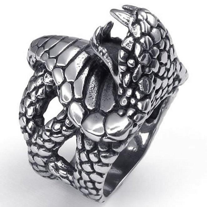 Мужчины кольцо змея Hpolw