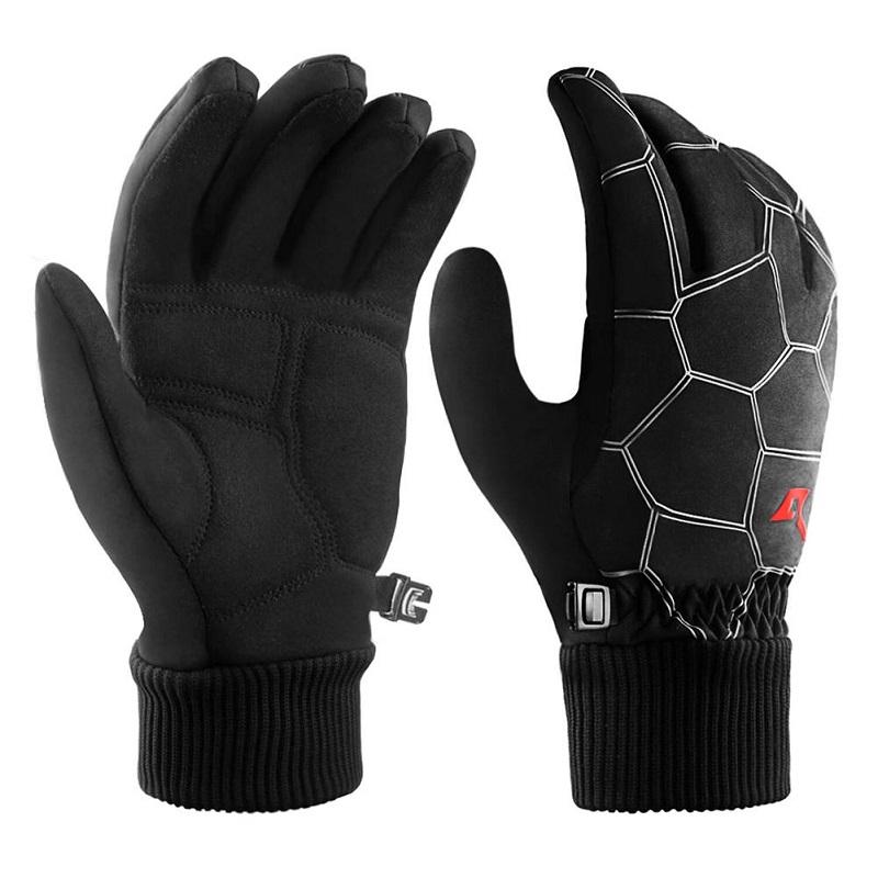 Водонепроницаемые перчатки Ветрозащитные перчатки на открытом воздухе Перчатки для велосипедных перчаток Перчатки для перчаток Roaming черный M фото