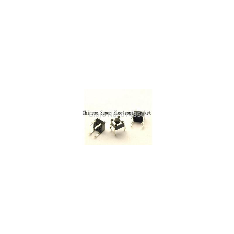 IC 100pcs momentary tactile tact push button switch 2 pin dip 6x6x5mm