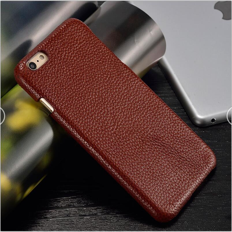 langsidi коричневый iPhone 6 6s Plus чехол из натуральной кожи для iphone 6 6s plus case litchi texture back cover для iphone 6 7 8 plus x case