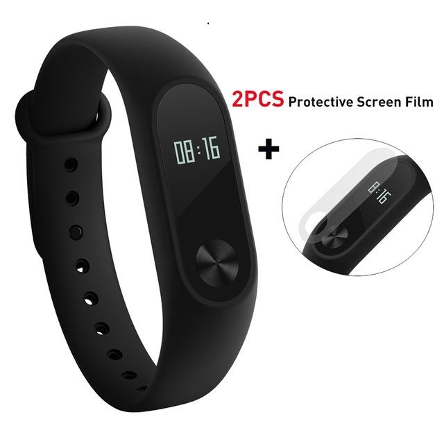 Mi Полоса пленка Смарт-браслет promotion original xiaomi mi band 2 miband band2 wristband bracelet with smart heart rate fitness tracker touchpad oled strap