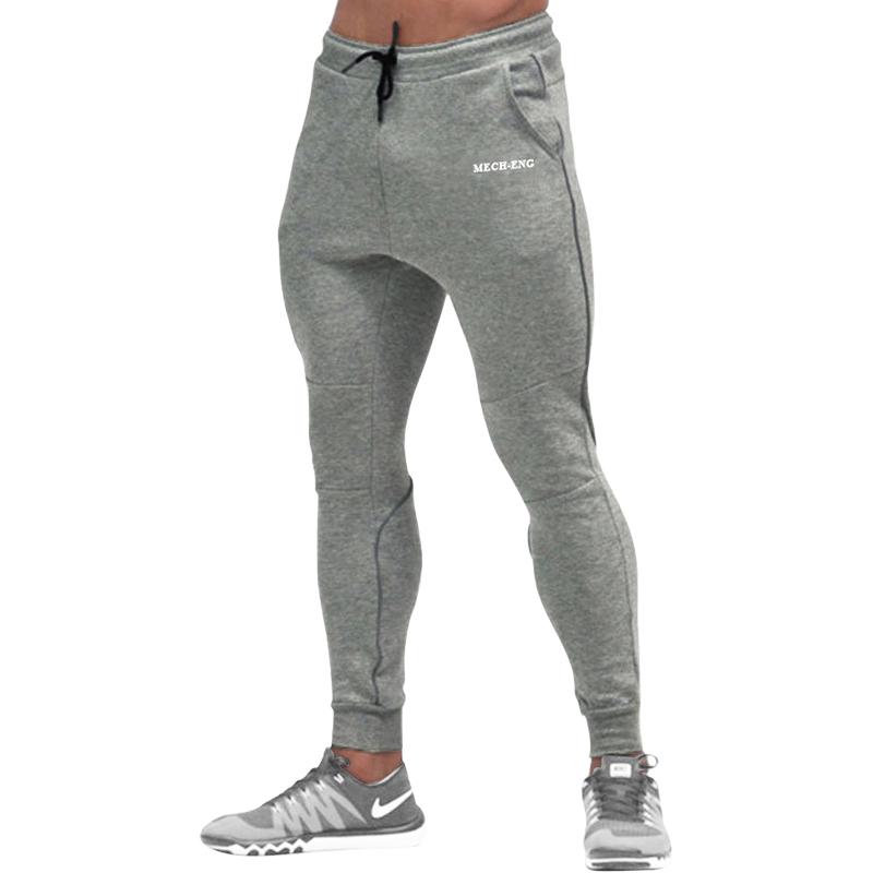 Мужские Пот штаны тренировка зал Тренировка Бег Повседневный Длинные брюки MECH-ENG Серый цвет Номер М фото