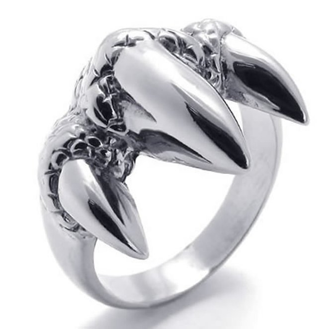Дракон когтем мужчины кольцо серебряное кольцо мужчины кольца Hpolw фото