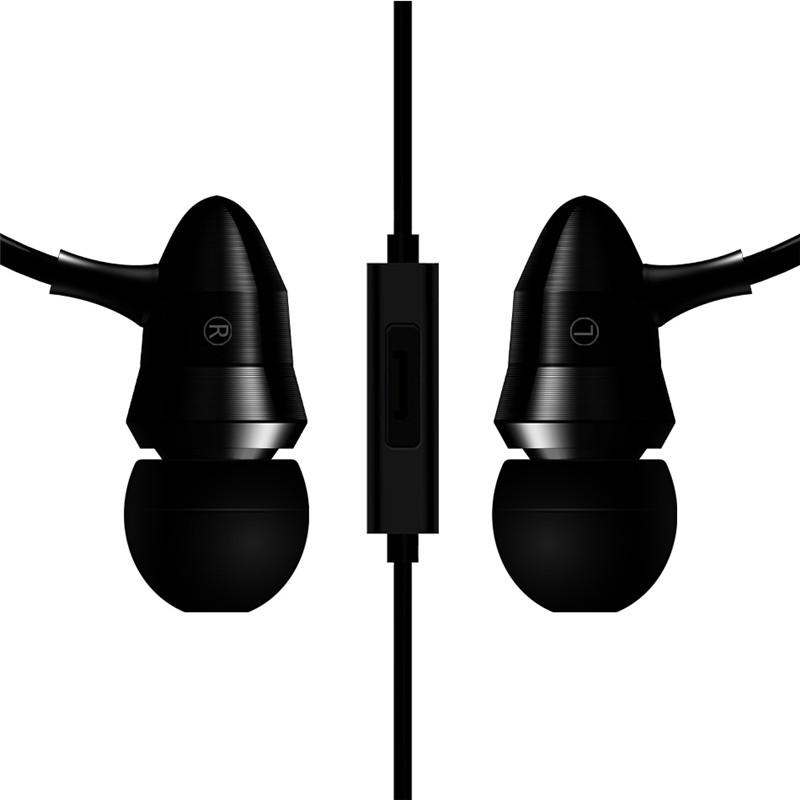 zhileyu Черный с MIC X6 Металлические наушники Magic Sound Bass Наушники-вкладыши